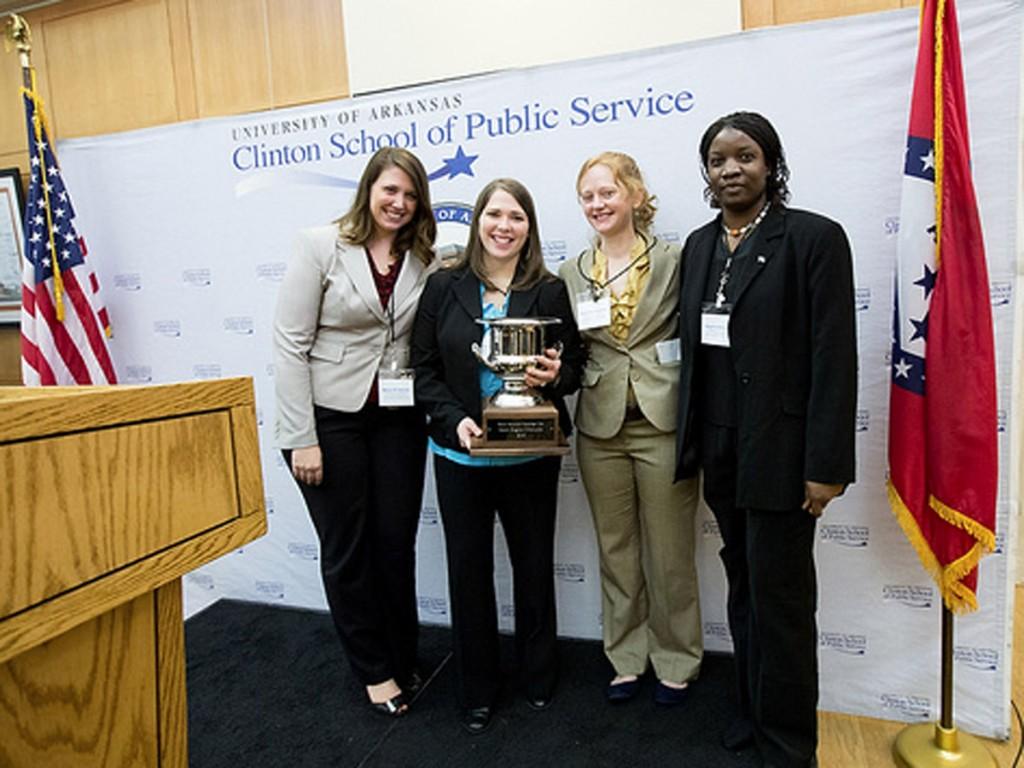 Mara D'Amico, Christine Sumner,  Jillian,Underwood and Angela Bukenya,